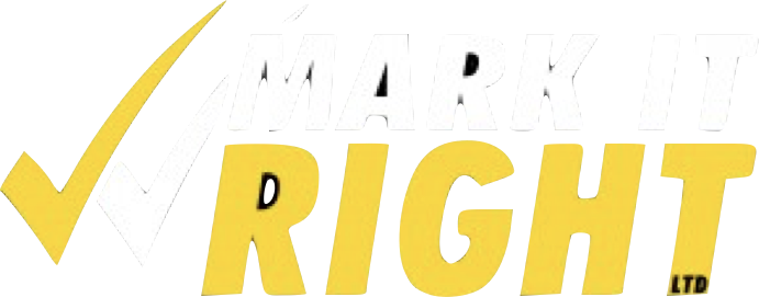 We Mark It Right Logo